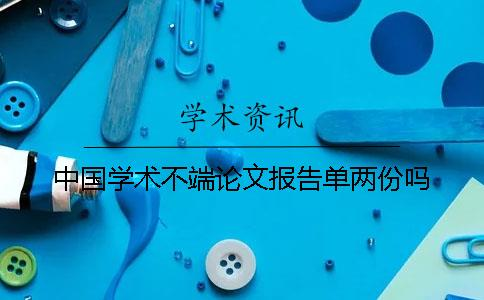 中国学术不端论文报告单两份吗