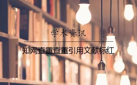 知网查重查重引用文献标红