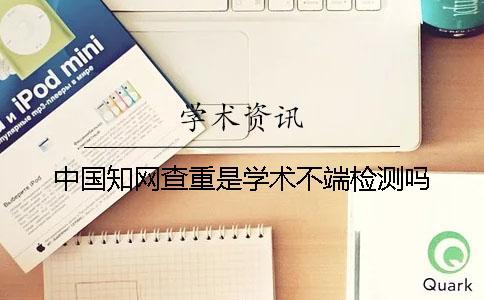 中国知网查重是学术不端检测吗?