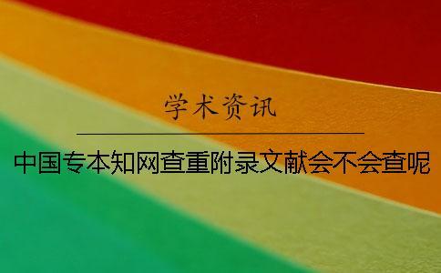 中国专本知网查重附录文献会不会查呢?
