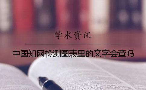 中国知网检测图表里的文字会查吗?