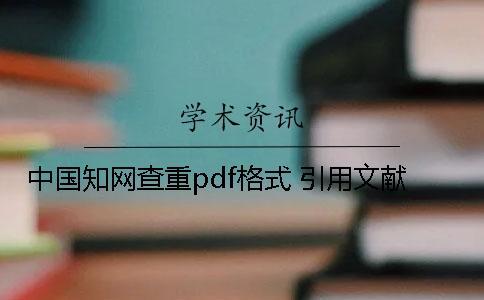 中国知网查重pdf格式 引用文献